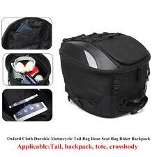 Black Oxford Cloth Motorcycle Bike Tail Storage Bag Rear Seat Bag Rider Backpack