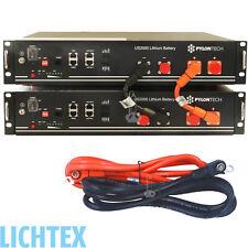 2x PYLONTECH US2000 Plus LiFePO4 48V 4,8kWh Lithium Photovoltaik Speicher System