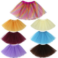 Sale Baby Girls Kids Solid Tutu Ballet Dance Skirts Fancy Party Skirt Mini Dress