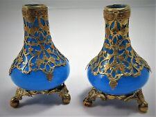 Paire de petits vases en opaline, Napoleon III ,  XIXème