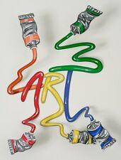 David Gerstein Object Art Graffiti Grafitti Wall Metal Modern Pop Sculpture New