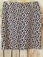 Ann Taylor 10P Skirt/petite ~Career/business~Navy/white ~Great Condition