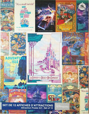 More details for 12 x genuine disney disneyland paris attraction art posters rare ride signs new