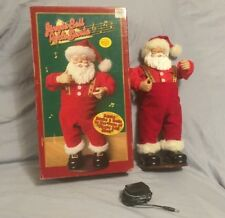 Jingle Bell Rock Santa Claus Christmas Singing Dancing Adapter Box 1998