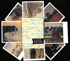 Oscar Claude Monet French painter Impressionist Lot of 12 Postcards in Folder