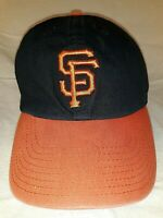 San Francisco Giants MLB '47 Brand MLB One Size Hat Cap Black With Orange Brim