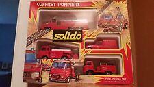 4-Piece Solido Coffret Pompieres Fire-Vehicles Set, Die-cast ,1:50 Die-cast, NIB