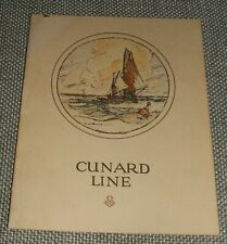 Original 1928 Birthday Dinner Menu on R.M.S. Carinthia Cunard Line Vintage menu