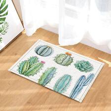 """All Kind of Cactus Bathroom Rug Non-Slip Floor Door Mat Flannel 16x24"""""""