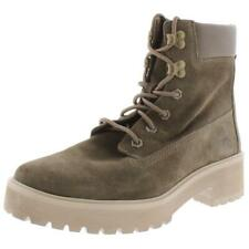 Timberland Womens Carnaby Cool Suede Lace Up Ankle Combat Boots Shoes BHFO 7084