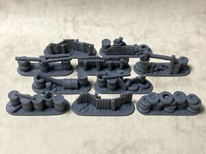 Post-apocalyptic barricades in 20mm scale for Gaslands, Dark Future, Car Wars