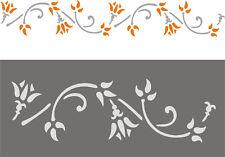 Schablone, Tupfschablone, Wandschablone, Malerschablone, Deko  - Blütenranke