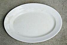 "Boote & Co White English Ironstone 17"" Plain Wall Art Oval Platter 1842-1871"