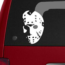 "Friday The 13th Jason Voorhees Mask 3.8""x6"" Vinyl Decal Horror Movie Halloween"