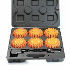 6 Pc LED Flare Road Side Emergency Safety Kit Tool Automotive Magnetic Base Car