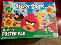 Angry Birds Jumbo Poster Pad * Activity & Coloring Ages 4+ 19.5 x 13.5 * NEW