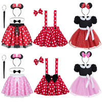 Girl Dots Costume Cartoon Cosplay Jumpsuit+Mask+Bag Fancy Dress Outfit Age 5-12Y