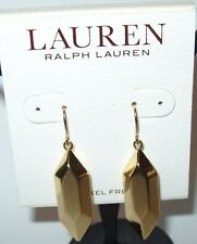 Ralph Lauren Gold Tone Geometric Hexagon Drop Earrings  NWT $36 MSRP
