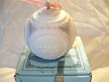 Lladro Spring Ball Ornament Nib New 1989 Bas Relief Ribbon Spain 5.656