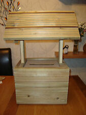 Wooden wedding wishing well for sale unpainted free postage in uk
