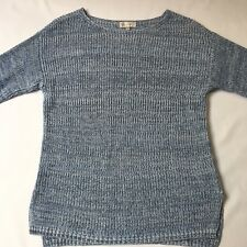Capture 100% Cotton Blue and White Jumper, Large Weave, Size S