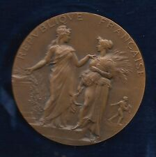 REPUBLIC FRANCAISE / Old French Award Science / PARIS / Bronze Medal / BOX / M46