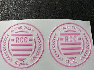 2 X RCC Frame Helmet Phone Bike Vinyl Sticker Decal Rapha EX DURIS Roundel
