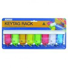 Plastic Key Tags With Rack -8 Key -FREE POST