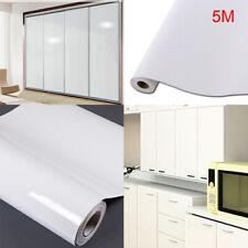 5M Weiß Möbelfolie Hochglanz Glänzend Glanz Klebefolie Küchenfolie Schrankfolie