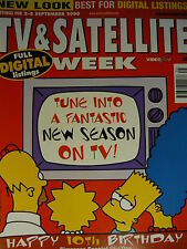TV & SATELLITE WEEK MAGAZINE 2ND SEPT 2000 - THE SIMPSONS 10TH BIRTHDAY!