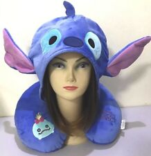 New Tsum Tsum Stitch Plush Travel Neck Pillow Hood Car Rest Cushion U Shape Doll