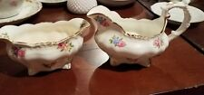 Vintage HAMMERSLEY England CREAMER and SUGAR BOWL FLORAL Queen Anne   #145 2