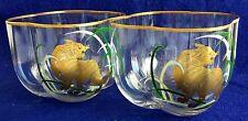Vintage Carlo Moretti Handblown / Handpainted bowls  .Murano Art Glass