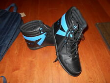 New Sean John Mens High Top Fashion Shoes Size 9.5 Black Blue Sneakers hip hop