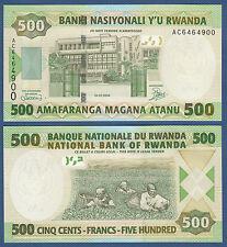 RUANDA / RWANDA 500 Francs 2004 UNC P.30