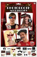 ** AT THE MOVIES HOLLYWOOD PHOTO BOOTH ACCESSORIES PROPS NEW ** 18 PC PARTY FACE