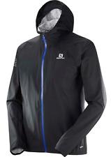 Salomon Men's Bonatti WP Running Jacket Black (Blue Zip)