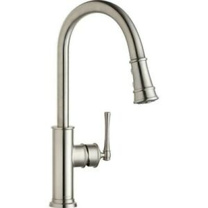 Elkay LKEC2031LS explore single hole kitchen faucet with pull down spray