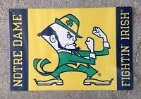 Notre Dame Football Fighting Irish Boxing Leprechaun Steel Poster Sign Man Cave