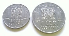 ALBANIEN - 0,20 und 1 LEK 1939 R - VZ - seltener