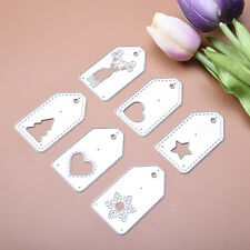 6pcs Tags Set Dies Metal Cutting Stencil For Scrapbooking Paper Cards Decor