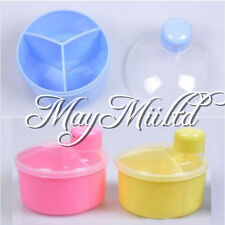 Baby Milk Powder Formula Dispenser Portable Container Pot 3 Compartment LZ