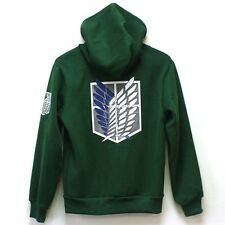 Attack on Titan Shingeki no Kyojin Scouting Legion Hoodie Sweater Coat Cosplay