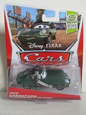 Disney PIXAR Cars World Grand Prix WGP DAVID HOBBSCAPP w/ HEADSET Die Cast Car