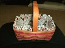 1994 Longaberger Mother'S Day Basket Combo w/ Floral Liner ~ Collector's Item!