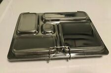 PlanetBox Stainless SteelLunch Bento Box 5 Compartments, 1 Additional Container