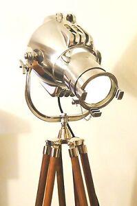 VINTAGE MOVIE THEATRE SPOT LIGHT ANTIQUE FLOOR LAMP EAMES STRAND LONDON 23 123