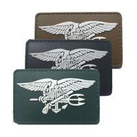 3 Pcs/lot US Navy Seals DEVGRU 3D PVC Hook Backing Patch Tactical Badge