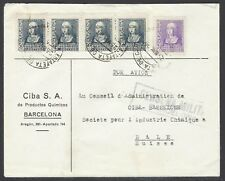 SPAIN 1939 CIVIL WAR CENSOR COVER TO SWITZERLAND