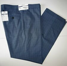 Polo Ralph Lauren Mens Dress Pants 38x32 Blue Slim Fit Mini Check Flat Front NWT